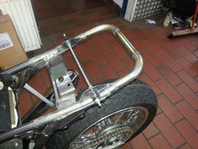 Shortening rear frame